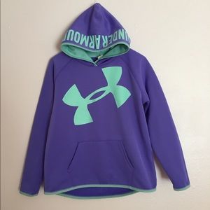 Under Armour Loose Fitting Cold Gear Hoodie YXL